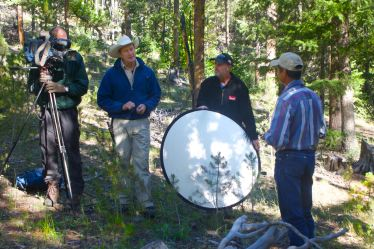 Interviewing outfitter Mike Scott in the Boulder-White Cloud mountains Photo by Peter Morrill