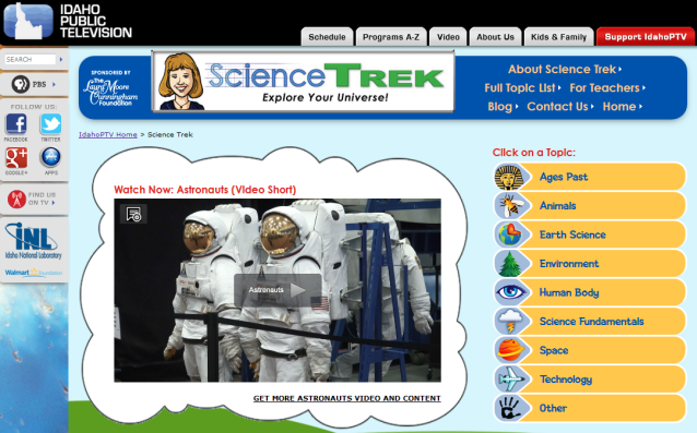 Science Trek website