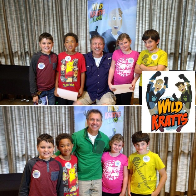Students from Donnelly Elementary School went behind the scenes to meet Martin and Chris Kratt during the Boise performance of Wild Kratts Live!